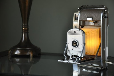 Old Polaroid Lamps