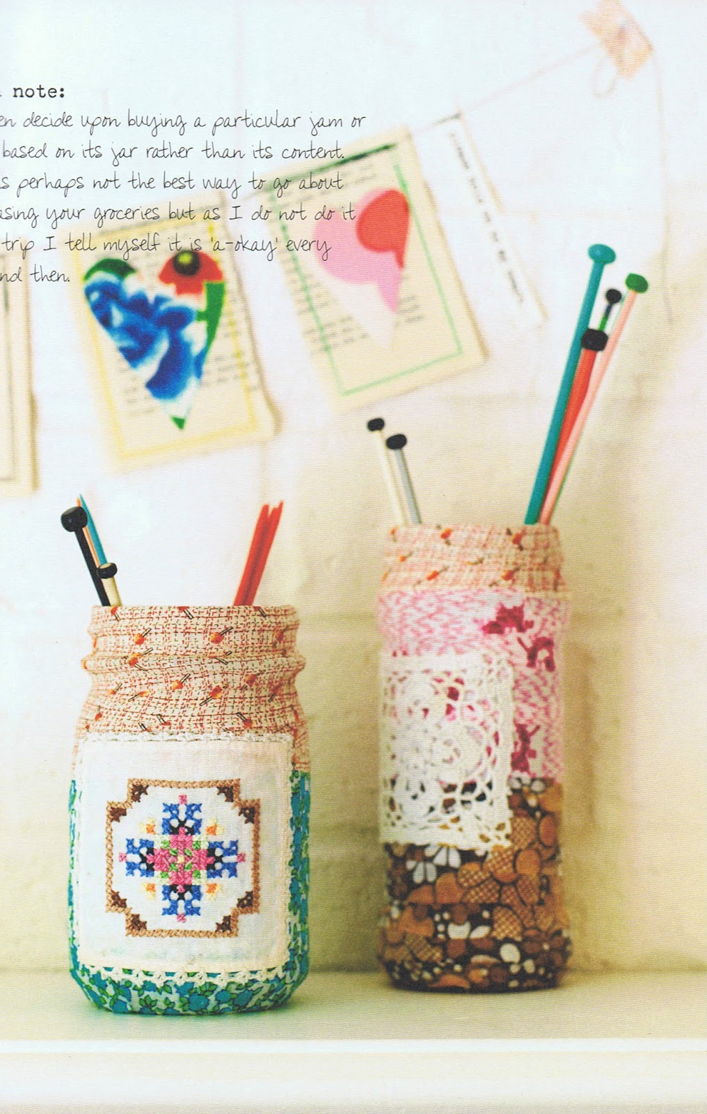 image granny chic book tif fussell rachelle blondel fabric covered jars