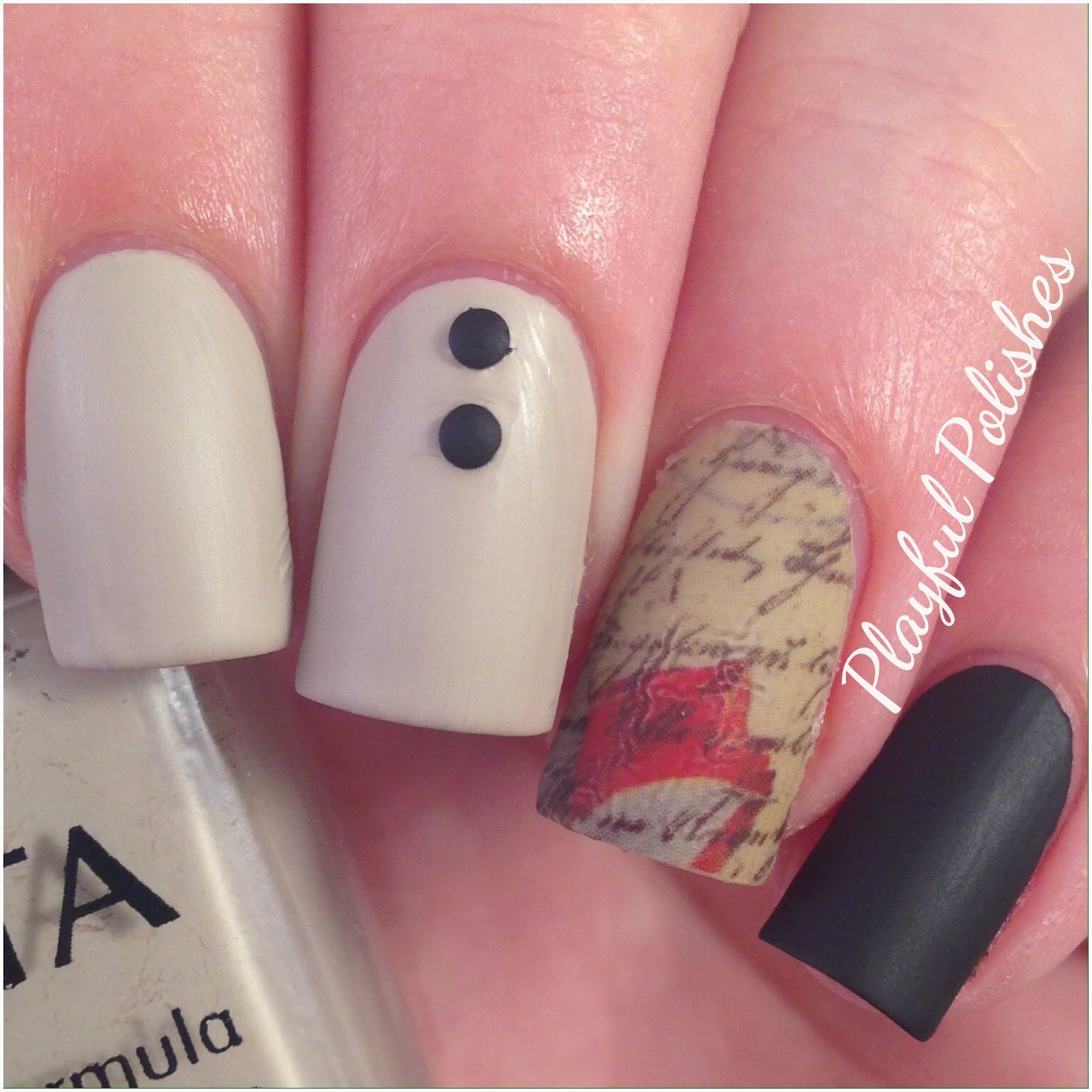 Playful Polishes: VINTAGE LOVE LETTER NAILS