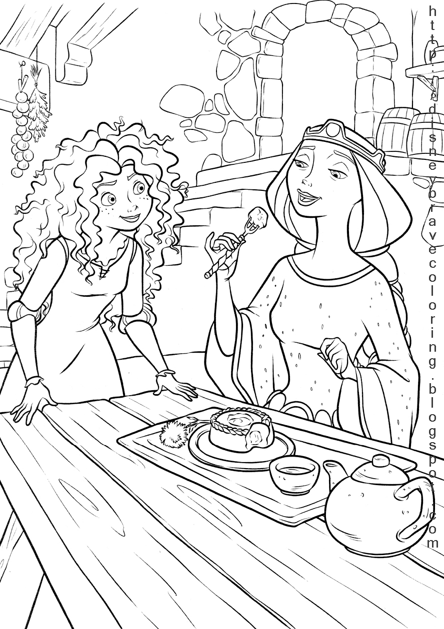 Disney Coloring Pages Brave : Brave coloring pictures pages for kids