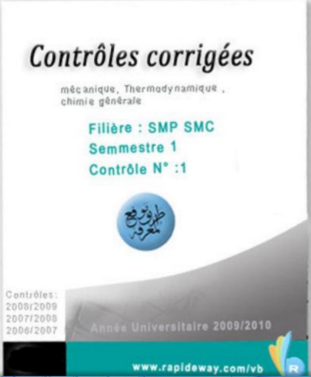 controle corriges semestre 1 SMPC