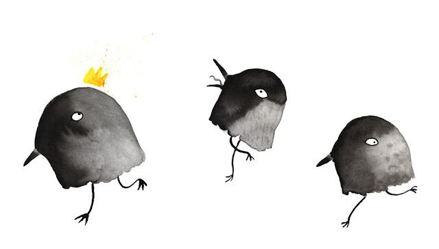 Inktober, pájaros corredores, aves corredoras