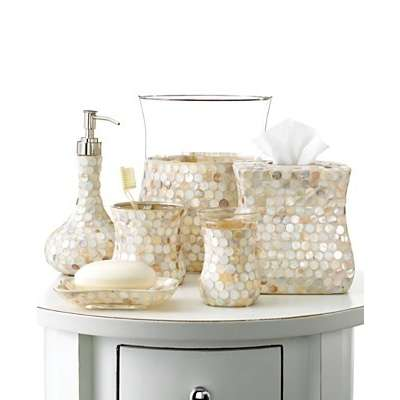 Wedding Wednesday Pearls Through The Front Door Furla Cream Damask Ceramic Bath Accessories
