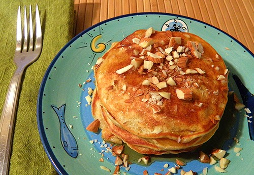 Stack of Almond Persimmon Pancakes