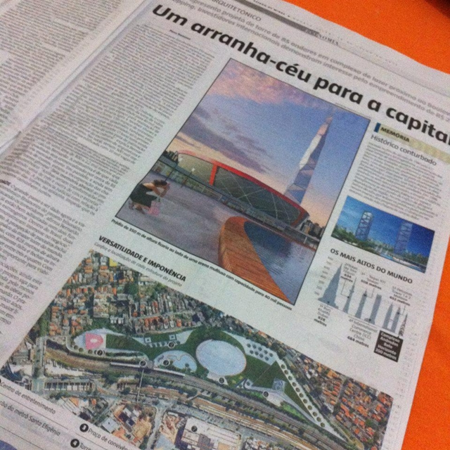 Photo of story in one of the Brazilian Newspapers