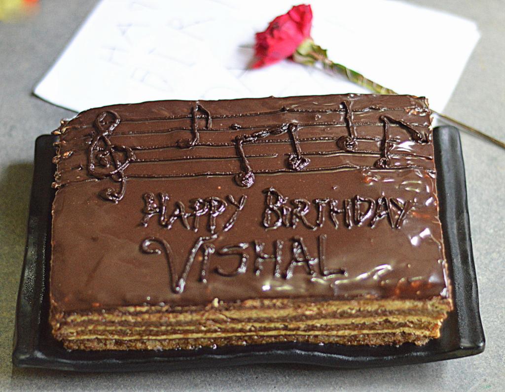 Birthday Cake Image Vishal : Pin Vishal Name Wallpaper Cake on Pinterest