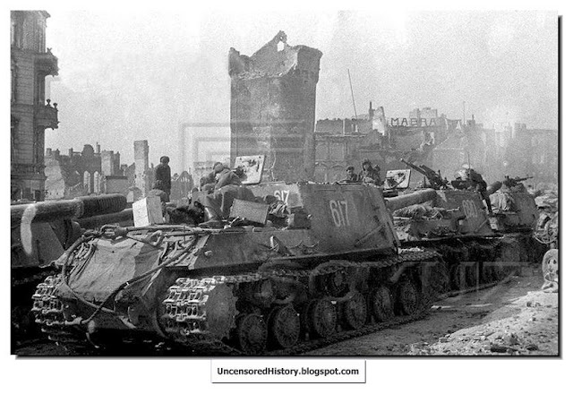 Destroyed German tanks Koenigsberg
