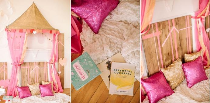 Colores para la mesa rosa y oro - Decoracion fiesta rosa ...