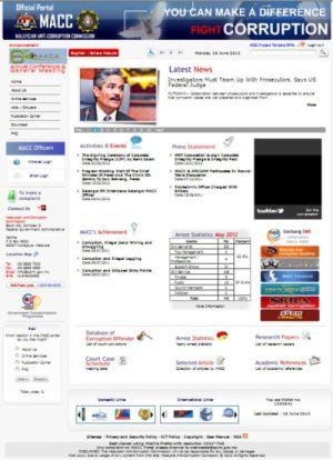 Laman Web SPRM Memaparkan Nama 900 Pesalah Rasuah