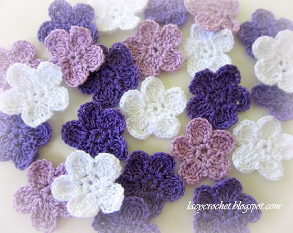 Brunfelsia Inspired Crochet Flowers