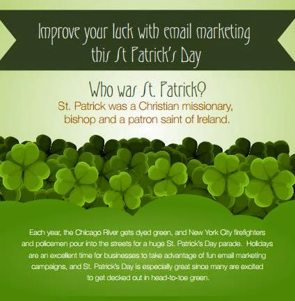 St. Patrick's Day Email Marketing Infographic