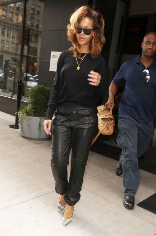 Rihanna – Braless Candids in New York