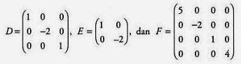 Contoh Matriks Diagonal