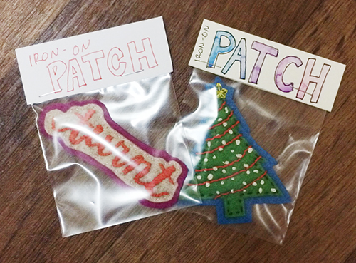 #FAFATL, free-art-friday, christmas-patches