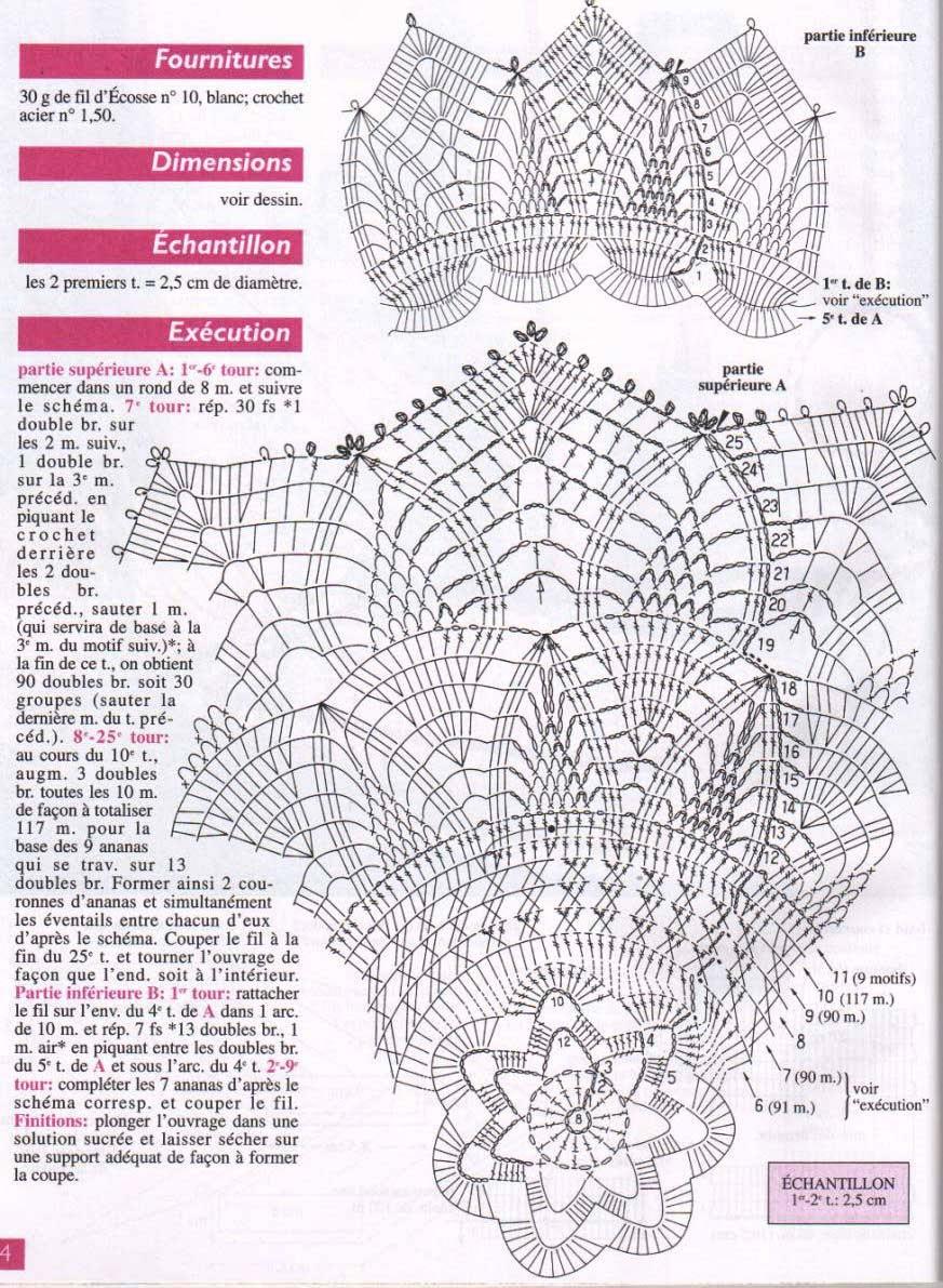 Ваза вязаная крючком со схемами и описанием