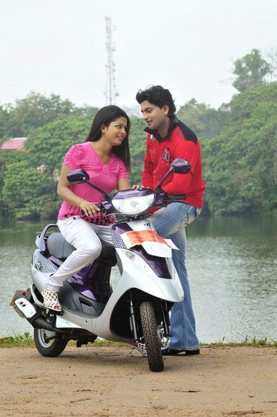 Sri Lankan Actress on scooty