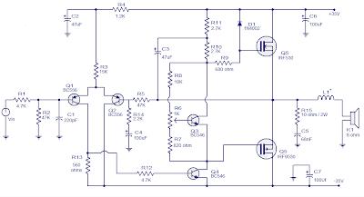 50 Watts Mosfet Audio Amplifier