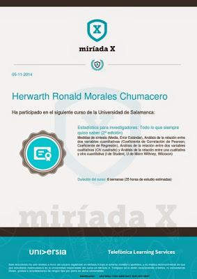 Certificado Otorgado por la Universidad de Salamanca - España