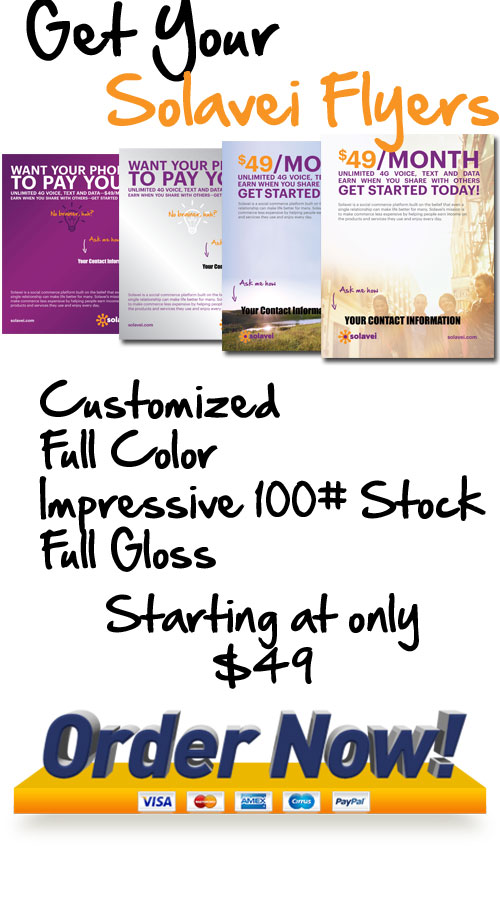 Get Solavei Promotional Flyers