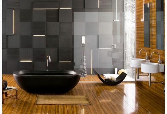 Estas fotos de diseño interior de baños expresan el balance, neutralidad e intimidad con un toque de elegancia para sentirnos cómodos con ambientes cálidos