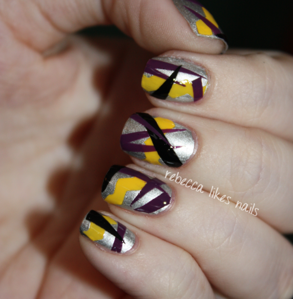 Cute Nail Designs Using Scotch Tape : Rebecca likes nails dc day