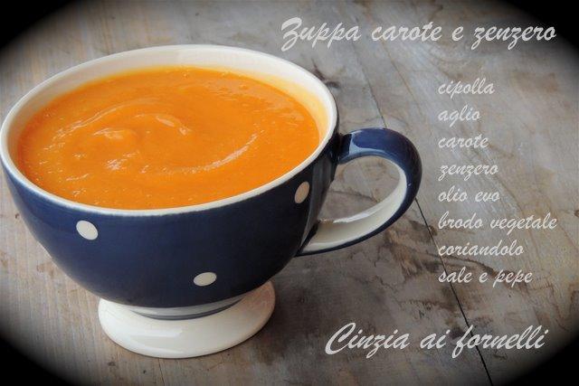 zuppa carote e zenzero bimby