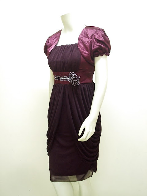 Gaun Pesta Syahrini Style + Bolero High Twist Import | LC-3597-UgA