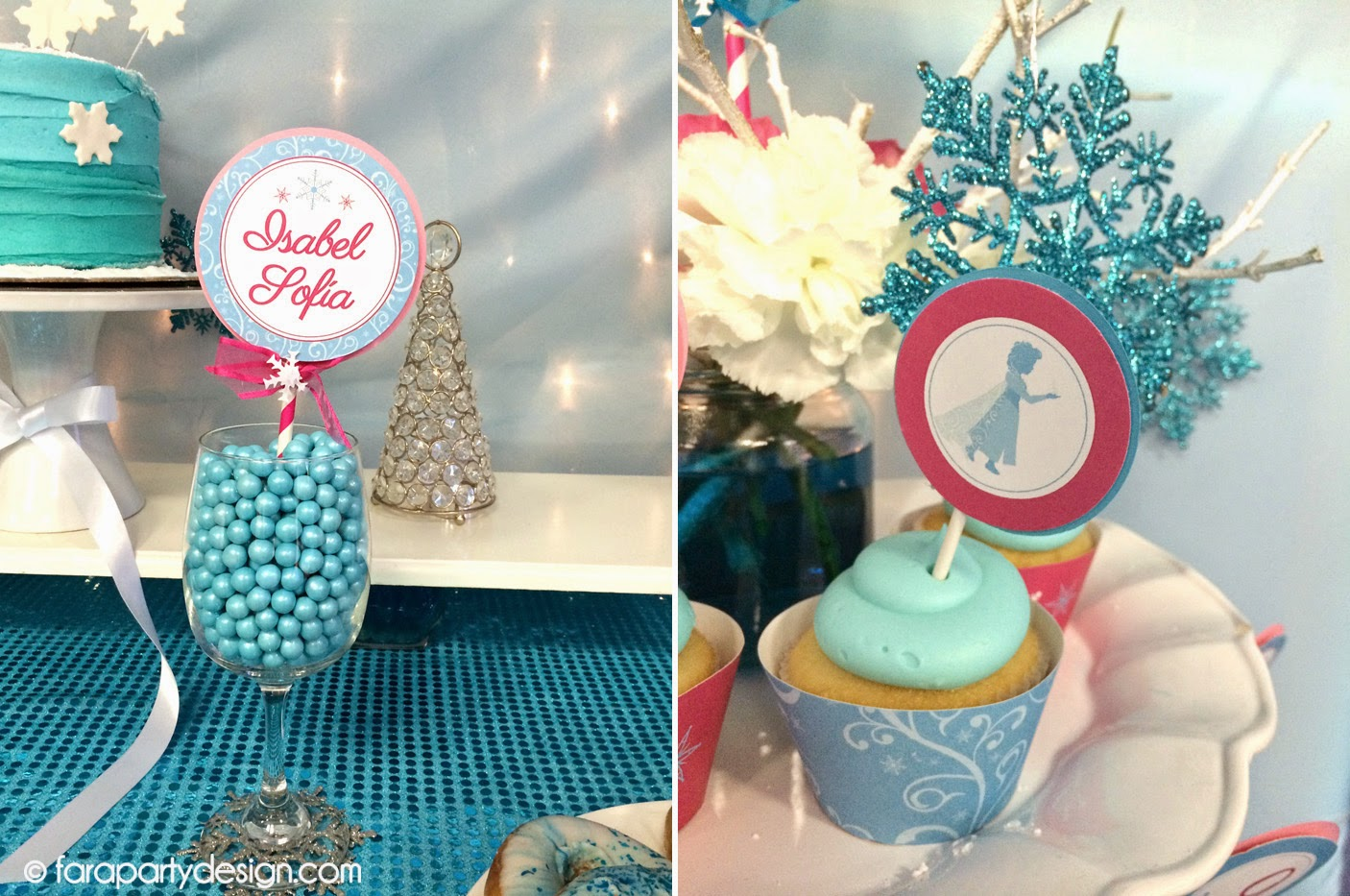 Little things creations fiestas cumplea os de frozen - Adornos cumpleanos infantiles ...