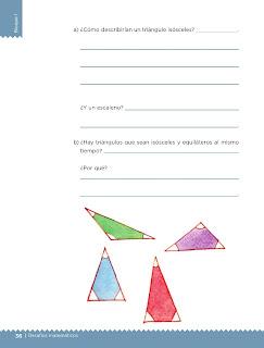 Apoyo Primaria Desafíos matemáticos 4to grado Bloque I lección 17 Equiláteros o isósceles