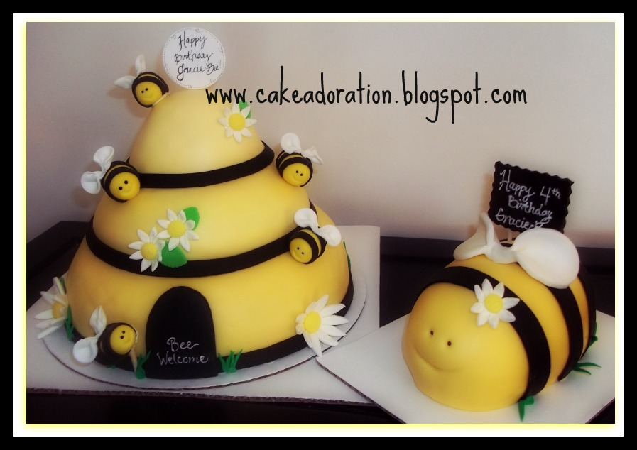 Beehive Birthday Cake And A Little Bumble Bee Too