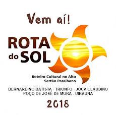 ROTA DO SOL 2018. INICIO: DIA 23 DE NOVEMBRO.