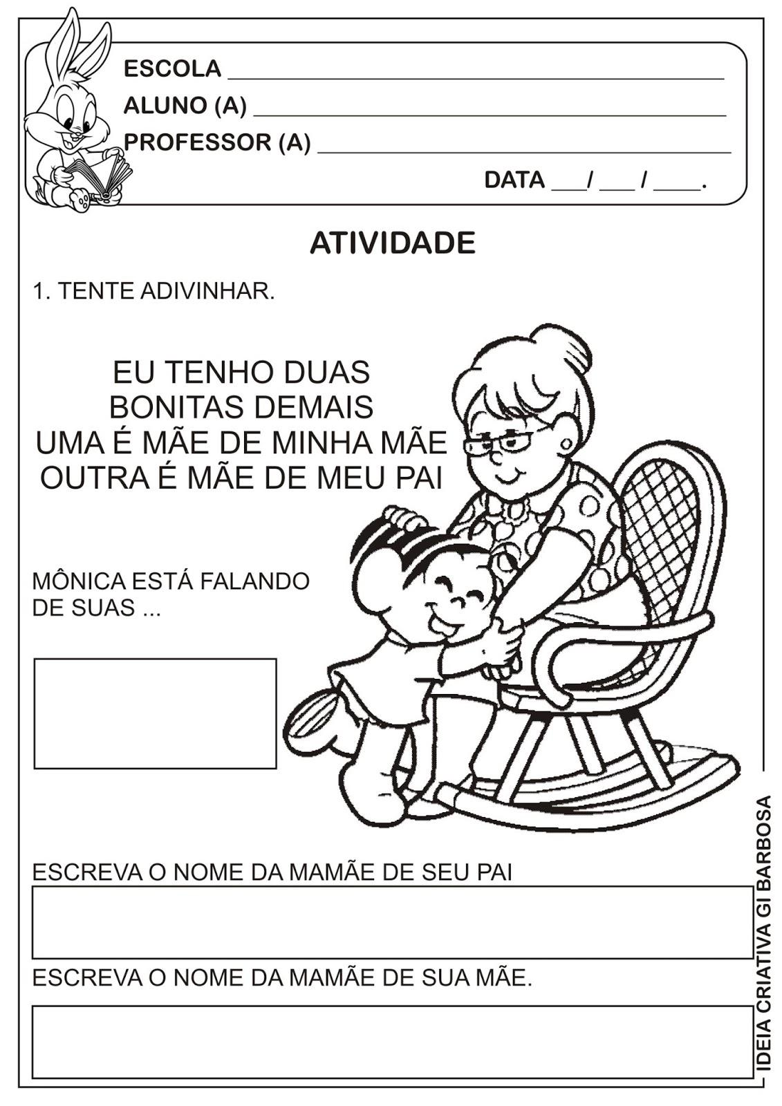 Muito Atividade Dia dos Avós com Adivinha | Ideia Criativa - Gi Barbosa  LH86