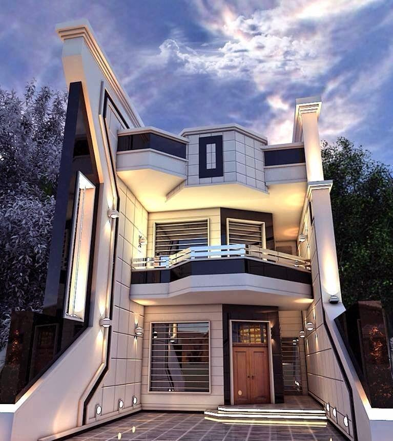 Modern residences exterior house and villas design ideas for Post modern home design