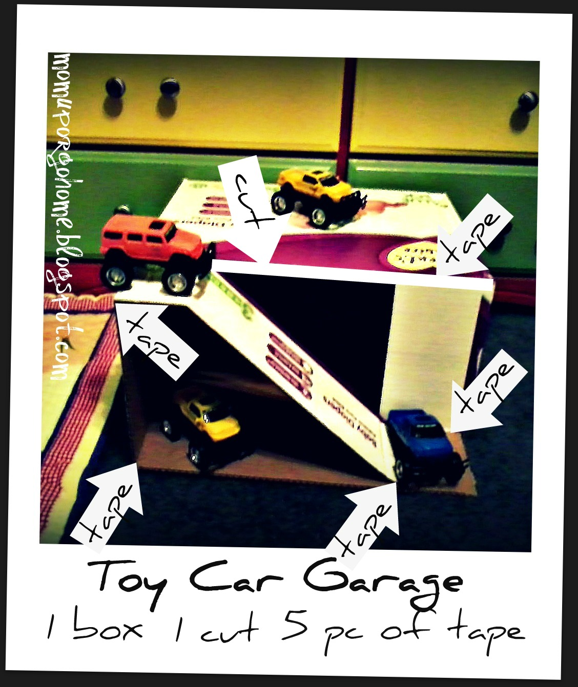 Mom up or go home toy car garage diy for Diy 3 car garage