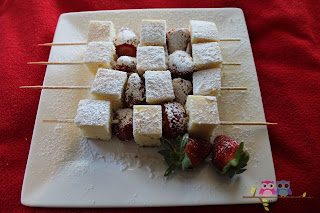 S is for Strawberry Shortcake Kebabs