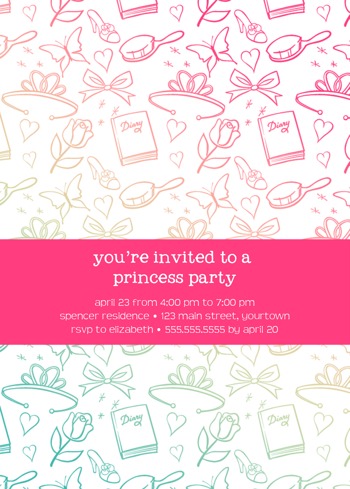 loving life designs graphic designs and printables princess party invitation