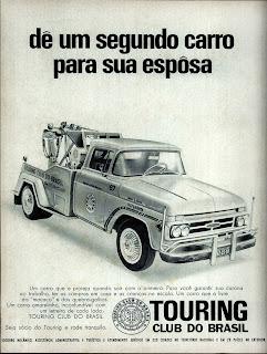 propaganda Touring Club do Brasil - 1970. 1970. propaganda carros anos 70.história década de 70; Brazilian advertising cars in the 70s, propaganda anos 70; reclame década de 70. Oswaldo Hernandez;