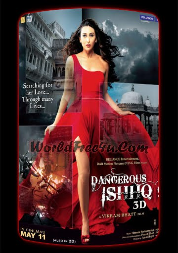 Poster Of Bollywood Movie Dangerous Ishq (2012) 300MB Compressed Small Size Pc Movie Free Download World4ufree.Org