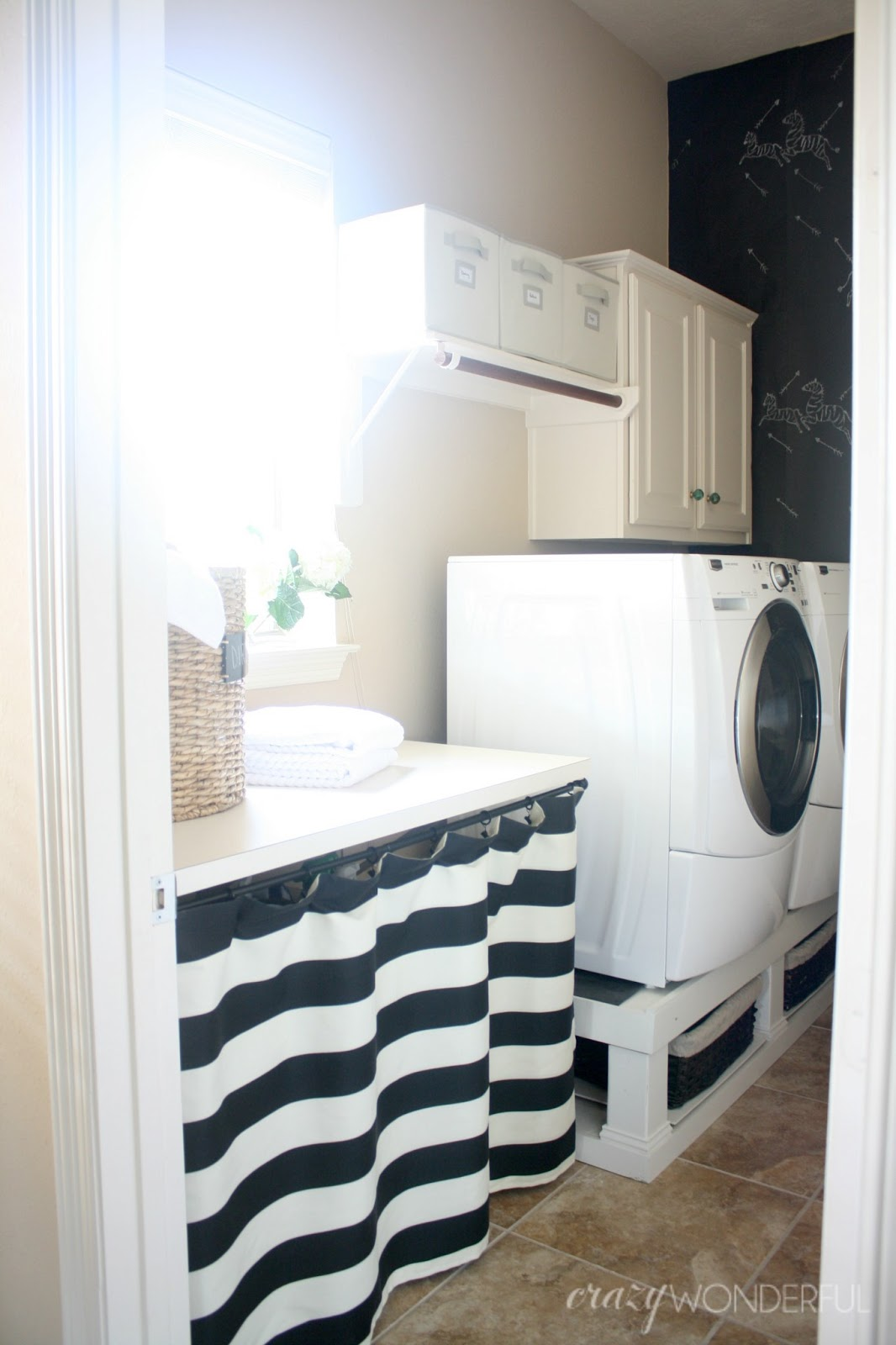 skirted laundry room table u2013 renter friendly