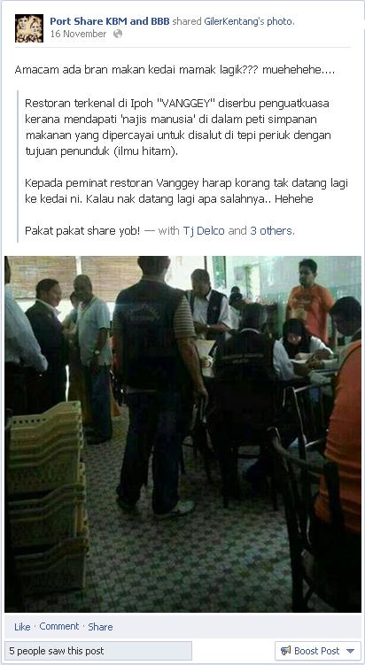 Penyebar Fitnah Tampil Mohon Maaf -Isu Restoran Nasi Kandar Vanggey-