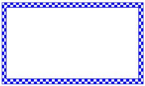 A blue checkerboard border: How many blue tiles are there? Answer: 408