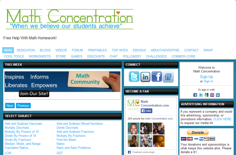 math help website 20 great math websites for teachers and students share this post: math basics offers help with basic math like subtraction, multiplication, division.