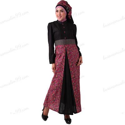 Model Baju Gamis batik kantor wanita muslim