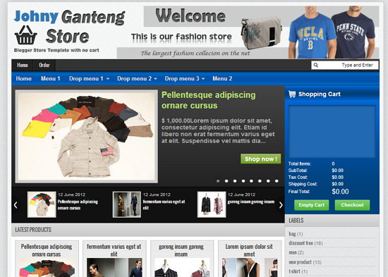 Store Blogger Templates 10 Best Free Online Store Blogger Templates with Cart | Tech Shortly