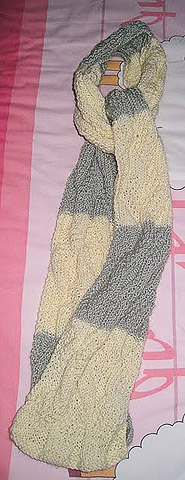 knitted asherton reversible striped scarf