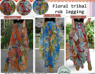 Floral Tribal Rok Legging fit to L