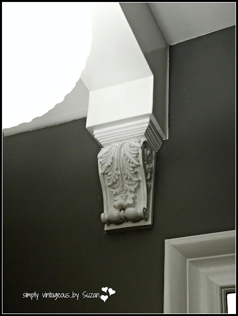 Painted white corbel