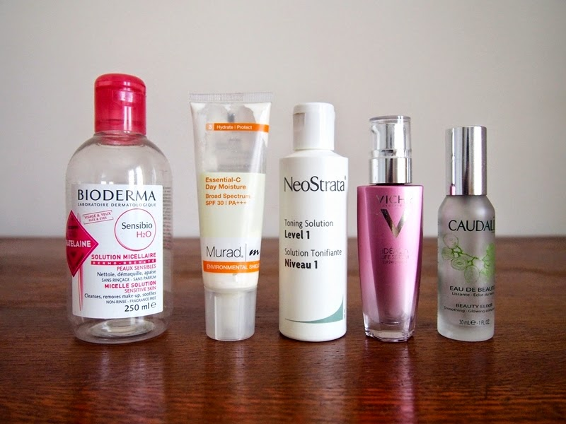empty skincare products