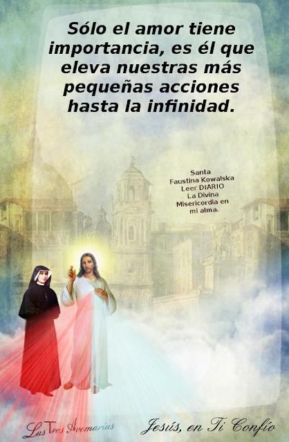 anotacion de santa faustina en el diario
