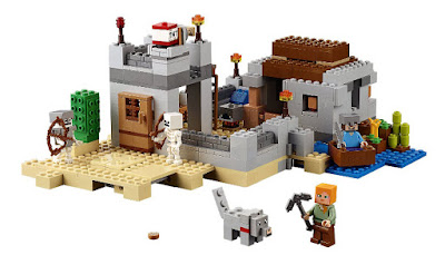 JUGUETES - LEGO Minecraft  21121 El Fuerte del Desierto   The Desert Outpost  Producto Oficial 2015   Piezas: 519   Edad: +8 años